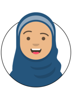 Avatar of a creative school pupil wearing a hijab
